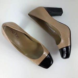 "Me Too ""Paula"" Heels in Beige & Black Size 6"